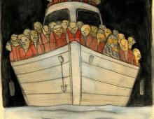 Mulou and Tsagai are Crossing the Sea- מולו וצגאי חוצים את הים